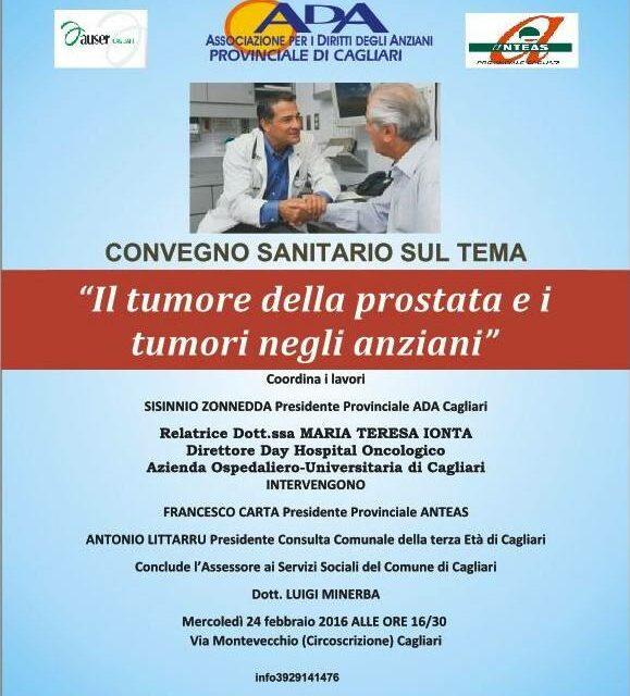 Cagliari – Il tumore della prostata e i tumori negli anziani