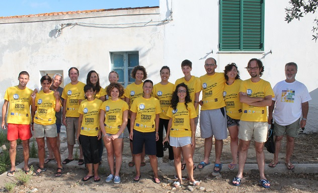 """Cala d'Oliva – Concluso il campo di volontariato e formazione """"Uomini soli"""""""