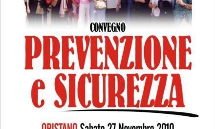 """Oristano – Incontro-dibattito su """"Prevenzione e Sicurezza"""""""