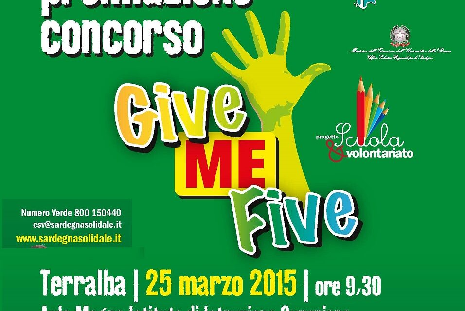 """Terralba – Premiazione Concorso """"Give me Five!"""""""