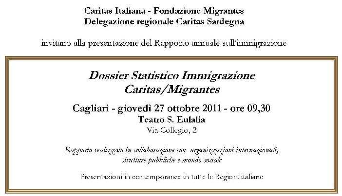 Cagliari – Dossier statistico immigrazione Caritas/Migrantes