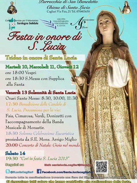 Cagliari – Festa di S. Lucia e Concerto di Natale