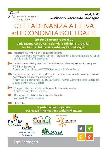 Cagliari – Cittadinanza attiva ed economia solidale