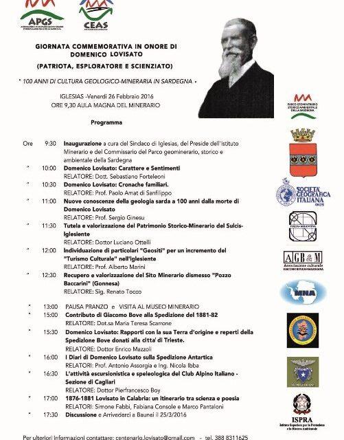 Iglesias – 100 anni di Cultura Geologico-Mineraria in Sardegna