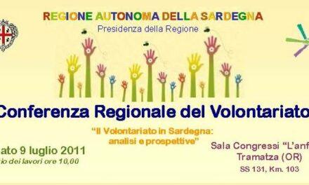 Il 9 luglio la Conferenza Regionale del Volontariato