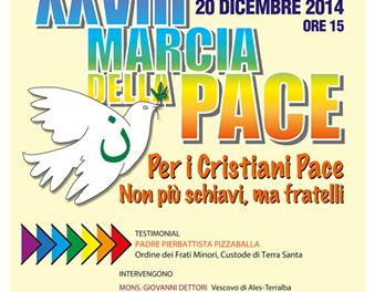 XXVIII MARCIA DELLA PACE – Per i Cristiani Pace – Oristano, 20 dicembre 2015