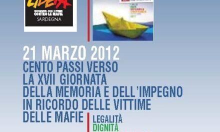 """Libera Sardegna: i cento passi """"verso il 21 marzo"""" – Le iniziative"""