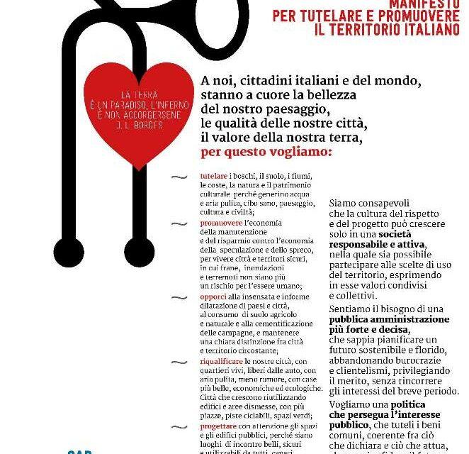 ITALIA PARADISO Manifesto per tutelare e promuovere il territorio italiano