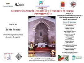 Iglesias – Giornate nazionali donazione e trapianto di organi