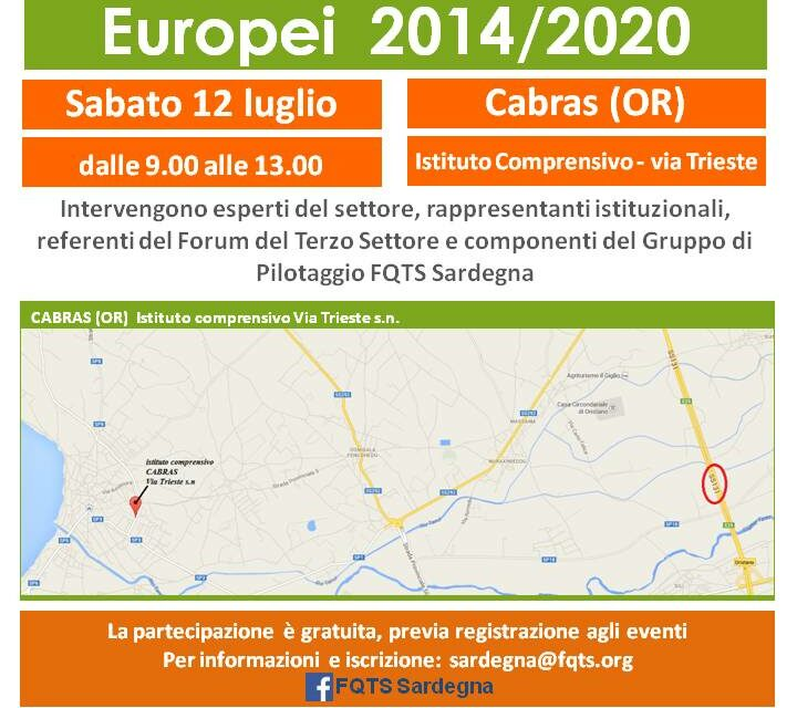 Cabras – Fondi strutturali europei 2014-2020