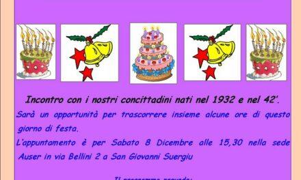 San Giovanni Suergiu – Festeggiamenti per i settantenni e gli ottantenni