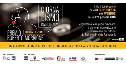 Quinta edizione del Premio Giornalistico Roberto Morrione