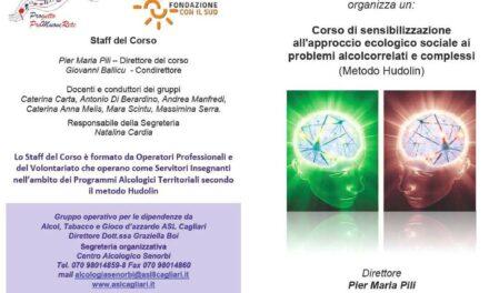 Selargius – Corso di sensibilizzazione all'approccio ecologico sociale ai problemi alcolcorrelati