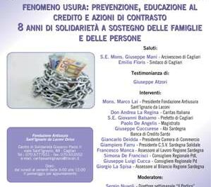 Cagliari – Fenomeno usura: prevenzione, educazione al credito e azioni di contrasto