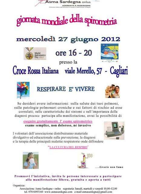 Cagliari – Giornata mondiale della spirometria