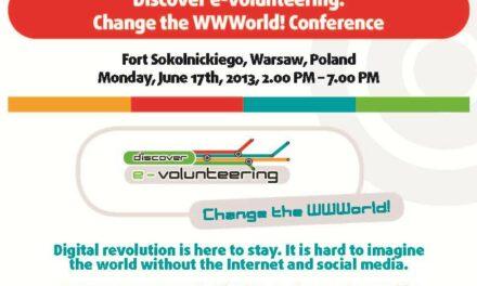 Discover e-volunteering. Change the WWWorld!