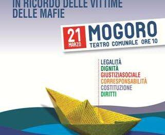 Mogoro, 21 marzo – XVII Giornata della memoria e dell'impegno in ricordo delle vittime delle mafie