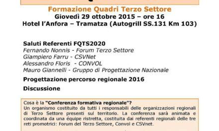 Tramatza – FQTS2020: Conferenza Formativa Regionale Sardegna