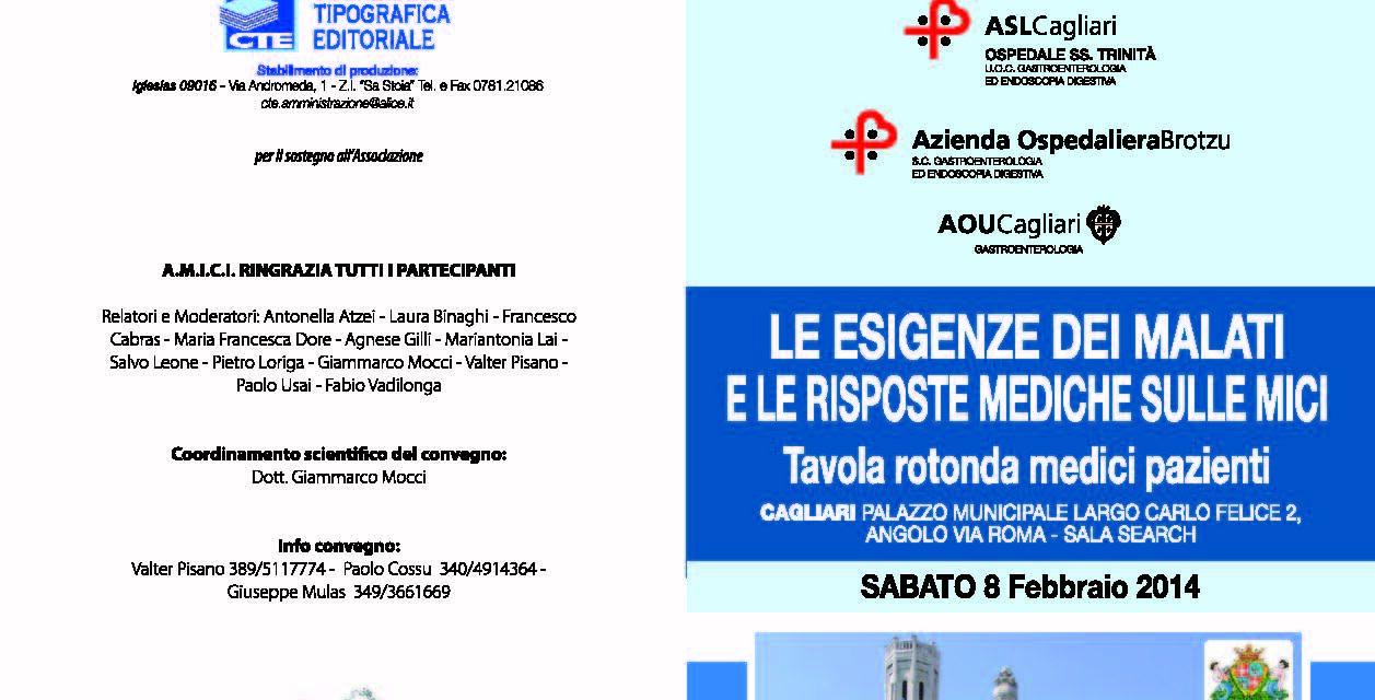 Cagliari – Le esigenze dei malati e le risposte mediche sulle M.I.C.I.