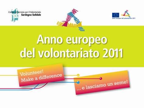 2011 Anno Europeo del Volontariato in Sardegna