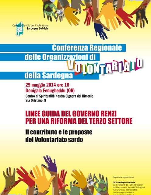 Donigala F. (OR) – Conferenza regionale delle Organizzazioni di Volontariato della Sardegna