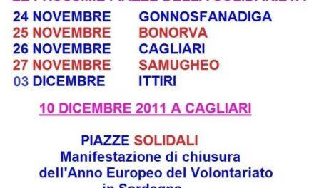 PIAZZE SOLIDALI: il 10 dicembre tutti a Cagliari!