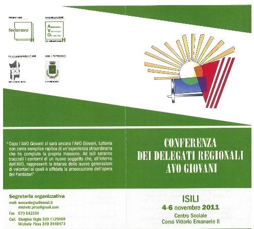 Isili – Conferenza delegati regionali AVO Giovani