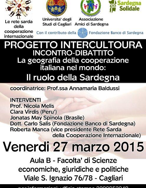 Cagliari – La geografia della cooperazione italiana nel mondo: il ruolo della Sardegna