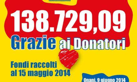"""Grazie agli """"azionisti"""" della raccolta-fondi """"Emergenza Sardegna 2013"""""""