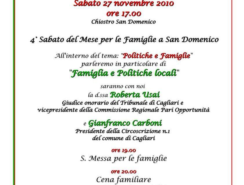 Cagliari – Politiche e Famiglie