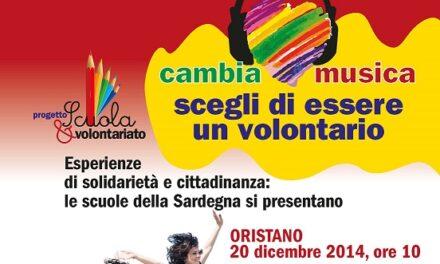 Oristano – Cambia Musica! Scegli di essere un volontario!