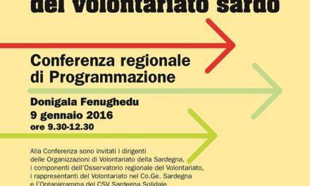 Il 2016 del Volontariato Sardo – Conferenza regionale
