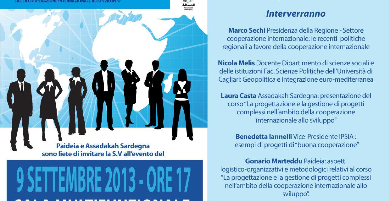 Sassari – La progettazione e la gestione di progetti nell'ambito della cooperazione internazionale