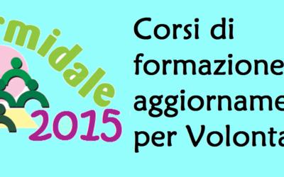 Formidale 2015: proposte di formazione e aggiornamento per i volontari della Sardegna