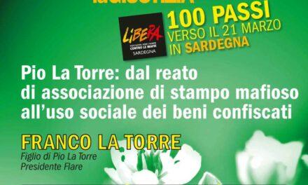 Cagliari – Pio La Torre: dall'associazione di stampo mafioso all'uso sociale dei beni confiscati