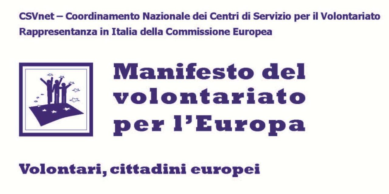 Manifesto del Volontariato per l'Europa