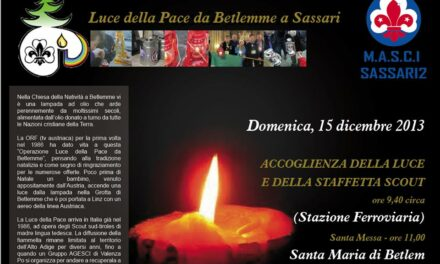 Sassari – La luce della pace da Betlemme a Sassari