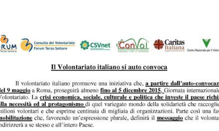 Roma – Autoconvocazione del Volontariato Italiano – programma