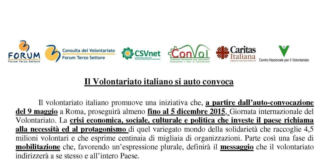 Autoconvocazione del Volontariato Italiano – Programma