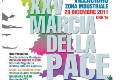Il 29 dicembre a Villacidro la XXV Marcia della Pace