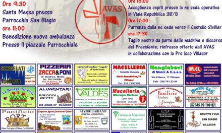 Villasor – Inaugurazione nuova ambulanza AVAS