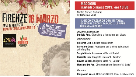 Macomer – Il gioco d'azzardo in Italia oggi