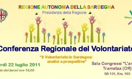 La Conferenza regionale del Volontariato spostata al 22 luglio 2011