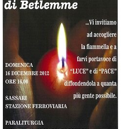 Sassari – Arriva la luce della Pace di Betlemme