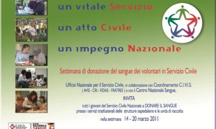 Settimana di donazione del sangue dei giovani in servizio civile