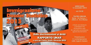 Roma – Dossier Statistico Immigrazione 2013