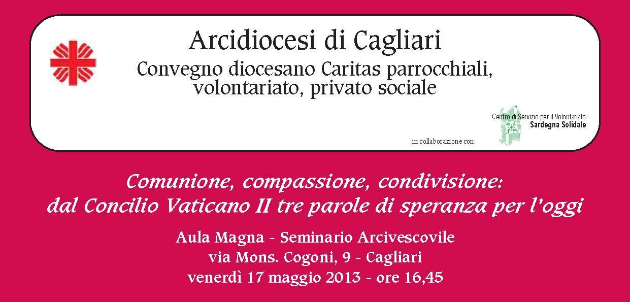 Cagliari – Comunione, Compassione, Condivisione: dal Concilio tre parole di speranza per l'oggi