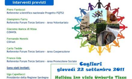 Cagliari – Conferenza Forum Terzo Settore della Sardegna