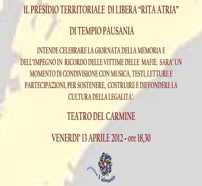 Tempio Pausania – Memoria e impegno