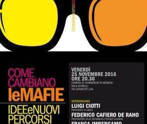 Modena – Come cambiano le mafie: Idee e nuovi percorsi di contrasto